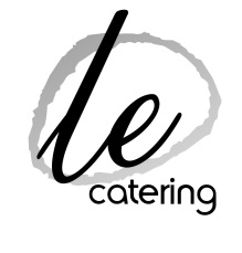 White Background B & W Le Catering